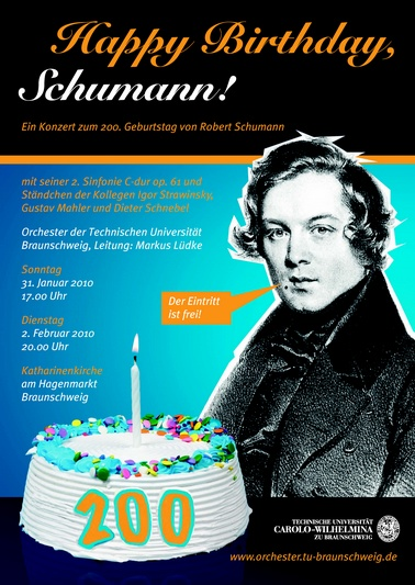 Plakat Happy Birthday Schumann